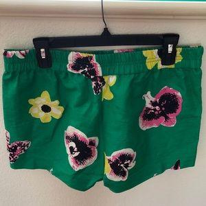 J. Crew Shorts - JCREW green floral shorts